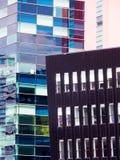 Architektoniczni szczegóły przy Salford Quays, Anglia fotografia stock
