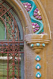 Architektoniczni szczegóły na historycznym budynku w Timisoara, rzymianin Obrazy Royalty Free