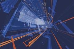Architektoniczny abstrakta 3d rendering ilustracja wektor