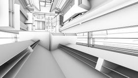 Architektoniczny abstrakta 3d rendering royalty ilustracja