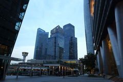 Architektoniczny budynek blisko Marina lata w Singapur Obraz Royalty Free