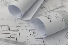 Architektoniczny dla budowa rysunków Obrazy Stock