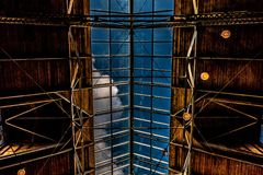 Architektoniczny Magazynowy Skylight fotografia stock