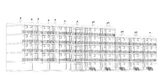 Architektoniczny obramia plan Obraz Stock
