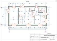 Architektoniczny plan administracyjny budynek Barwi wersję z miejscem dla teksta i kopii przestrzeni royalty ilustracja