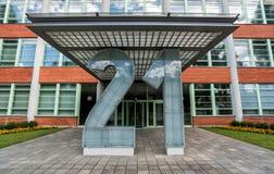 Architektoniczny projekt Żadny Administracyjny budynek 21 w Zlin, czech Reublic Obrazy Royalty Free