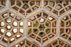 Architektoniczny przebija pracę Czerwony fort Agra Zdjęcia Stock