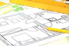 Architektoniczny rysunek Obrazy Stock