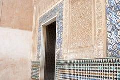 Architektoniczny szczegół Alhambra pałac Zdjęcia Stock