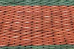 Architektoniczny szczegół Dachowe płytki Wat Phra Kaew obrazy royalty free