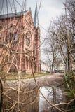 Architektoniczny szczeg?? Johanneskirche ko?ci?? w Freiburg im Breisgau, Niemcy obraz royalty free