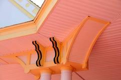 Architektoniczny szczegół na wiktoriański stylu budynku Obrazy Stock
