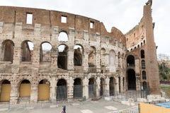 Architektoniczny szczegół przy Colosseum, Amphitheatrum Novum, Amph fotografia stock