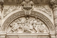 Architektoniczny szczegół Sainte-Genevieve, Paryż obraz stock