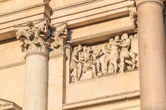 Architektoniczny szczegół San Fedele kościół w Mediolan zdjęcie royalty free