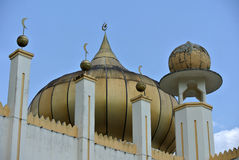 Architektoniczny szczegół sułtanu Mahmud meczet W Kuala Lipis, Pahang Fotografia Royalty Free