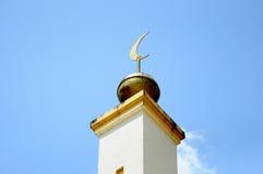 Architektoniczny szczegół sułtanu Mahmud meczet W Kuala Lipis, Pahang Zdjęcie Stock