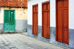 Architektoniczny szczegół w San Sebastian de losie angeles Gomera Obrazy Royalty Free