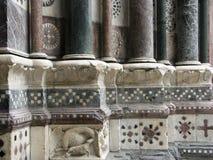 Architektoniczny szczegół wejście San Lorenzo katedra w Genova Obraz Stock