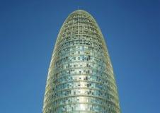 Architektoniczny szczegół Agbar wierza Barcelona Obrazy Royalty Free