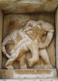 Architektoniczny szczegół na Królewskim Cmentarnianym grobowu, Udaipur, India Obraz Stock