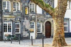 Architektoniczny szczegół - ulica w Kolonia, Niemcy Zdjęcia Stock
