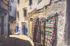 Architektoniczny szczegół w Chefchaouen, Maroko, Afryka obrazy royalty free