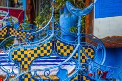 Architektoniczny szczegół w Chefchaouen, Maroko, Afryka Zdjęcia Stock