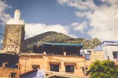 Architektoniczny szczegół w Chefchaouen, Maroko, Afryka Zdjęcie Stock
