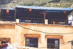 Architektoniczny szczegół w Chefchaouen, Maroko, Afryka Obraz Royalty Free