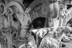 Architektoniczny szpaltowy cyzelowanie zdjęcia royalty free