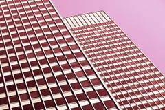 Architektoniczny tło w różowych brzmieniach Obrazy Royalty Free