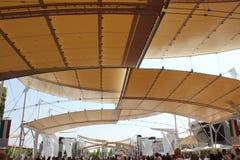 Architektoniczny zakończenie up expo 2015 dekarstwo Zdjęcia Stock