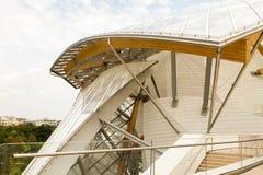 Architektonicznych szczegółów Louis Vuitton Fundacyjny wnętrze Zdjęcia Royalty Free
