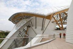 Architektonicznych szczegółów Louis Vuitton Fundacyjny wnętrze Obraz Stock