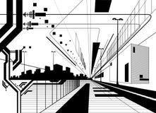 Architektonische moderne Auslegung Stockfotografie