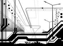 Architektonischer Vektor der modernen Auslegung Stockfoto