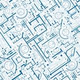 Architektonisches nahtloses Muster Lizenzfreies Stockbild