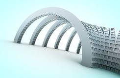 Architektur 3d Stockfoto