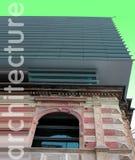 Architektur alt gegen neues Stockfotos