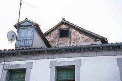 Architektur, alte Straßen des Granja de San Ildefonso herein Stockfoto