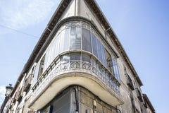 Architektur, alte Straßen des Granja de San Ildefonso herein Lizenzfreie Stockfotos