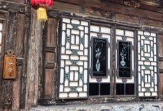 Architektur alter Stadt Pingyao und Verzierungen, Shanxi, China stockfotos