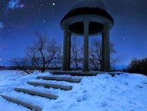 Architektur angesichts der Nacht Lizenzfreie Stockbilder
