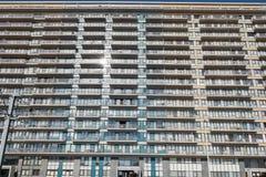 Architektur - Apartmenthäuser in Belgien, Flandern auf dem Nort stockfotos