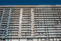 Architektur - Apartmenthäuser in Belgien, Flandern auf dem Nort lizenzfreies stockfoto