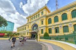 Architektur außerhalb der Saigon-Zentralpost Stockfotos