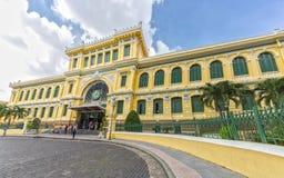 Architektur außerhalb der Saigon-Zentralpost Lizenzfreies Stockbild