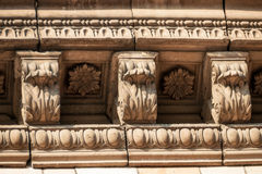 Architektur auf den Gebäuden der UDSSR Stockfoto
