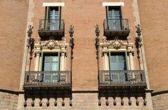 Architektur in Barcelona stockbild